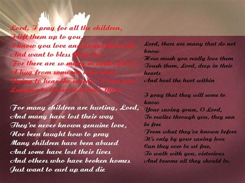 Famous Christian Parents Day Poems From Children