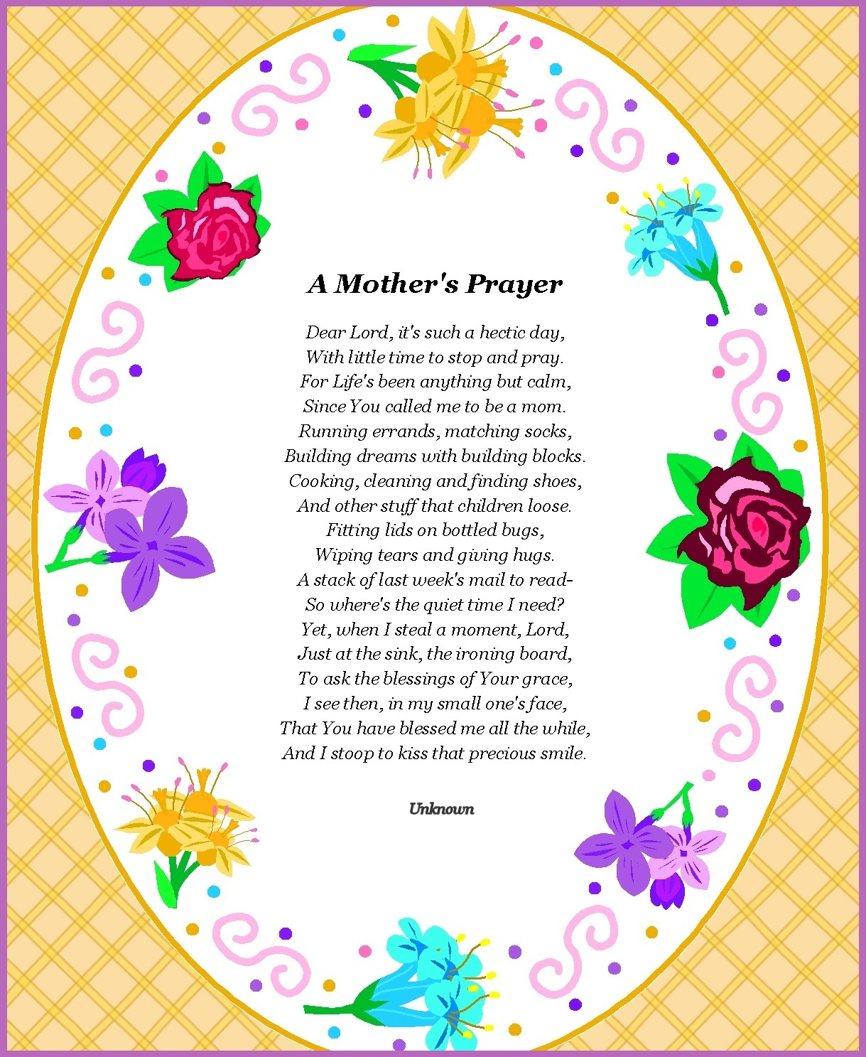 Famous Christian Parents Day Poems Prayer
