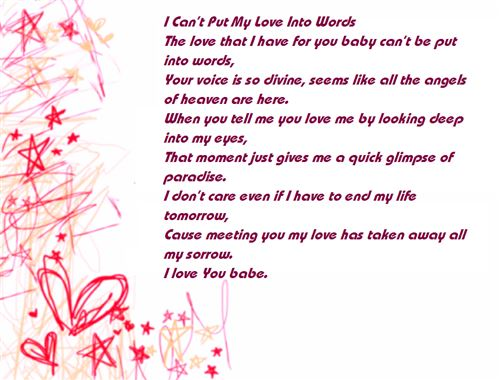 Cute Love Poems For Girlfriends