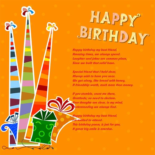 Free Short Happy Birthday Poems For Best Friends