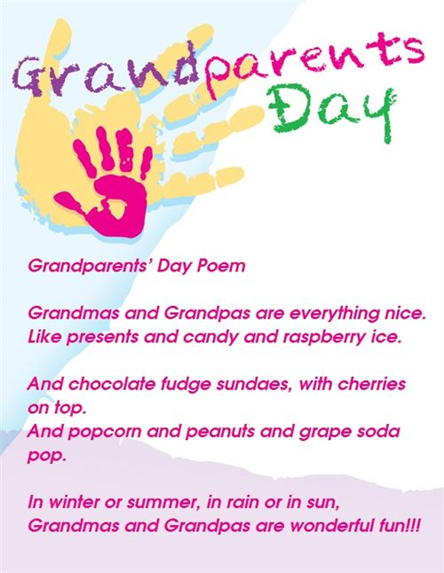 Special Grandparents Day Poems For Kids