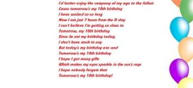 Top Funny Happy 10th Birthday Poems For Girls