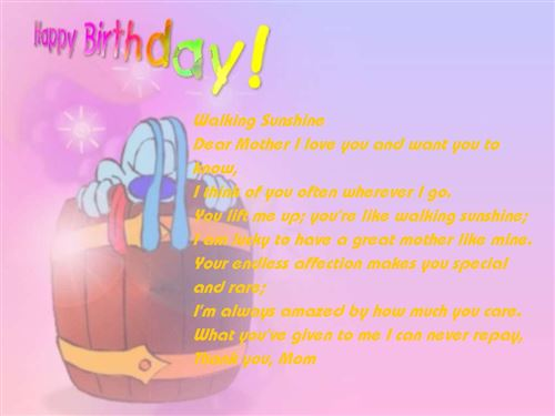 Unique Happy Birthday Poems For Mothers