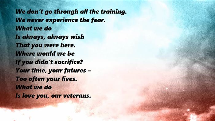 Best Short Veterans Day Thank You Poems