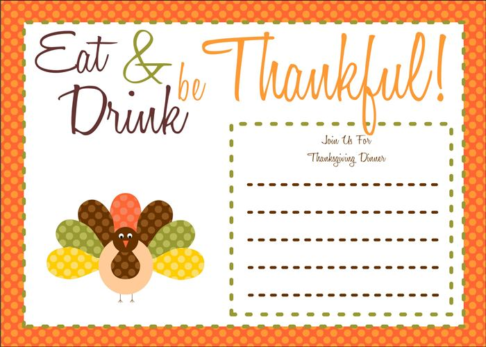 Best Thanksgiving Invitation Cards Messages