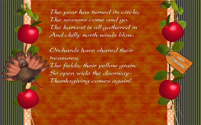 Famous Christian Thanksgiving Poems For Preschool