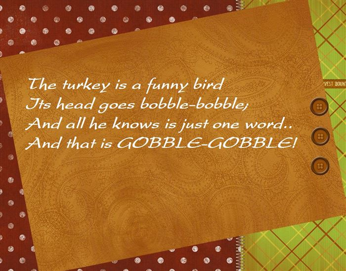 Famous Short Thanksgiving Poems For Kindergarten