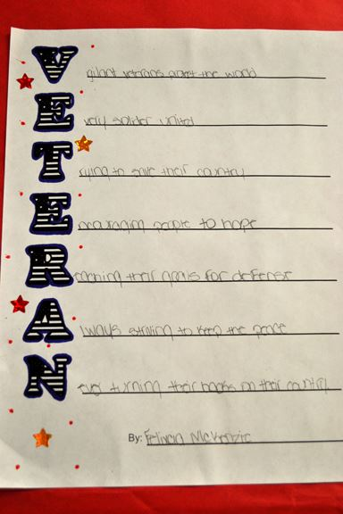 Famous Veterans Day Acrostic Poems For Kids