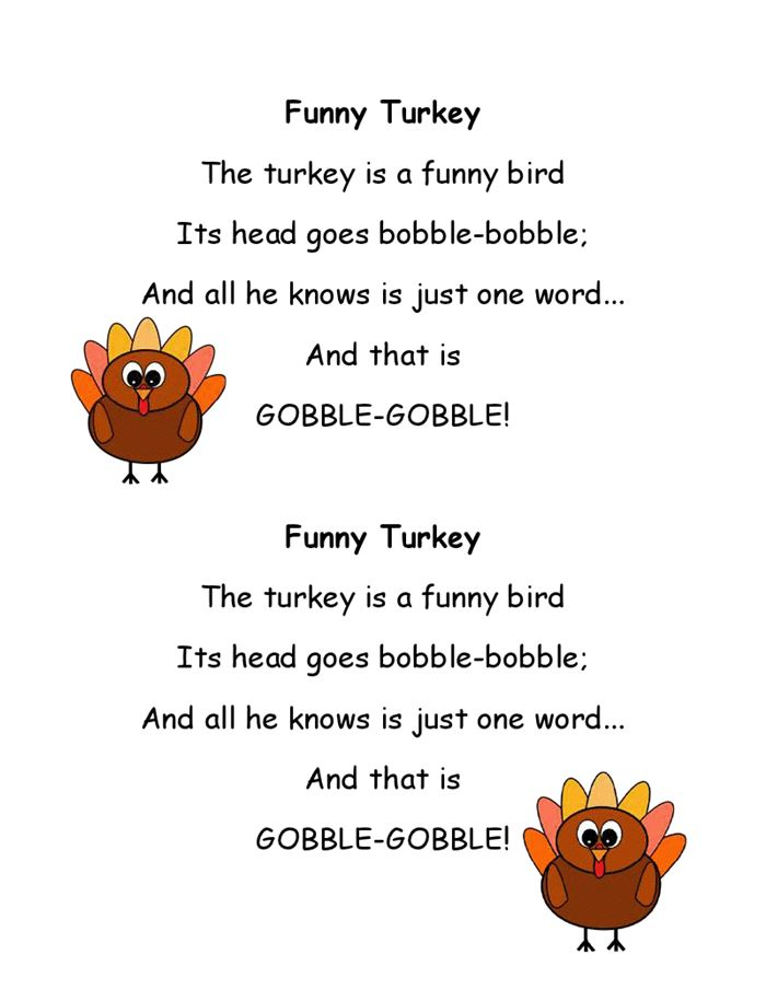Free Printable Thanksgiving Poems For Kids