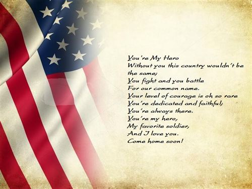 Free Veterans Day Thank You Poem For Kids
