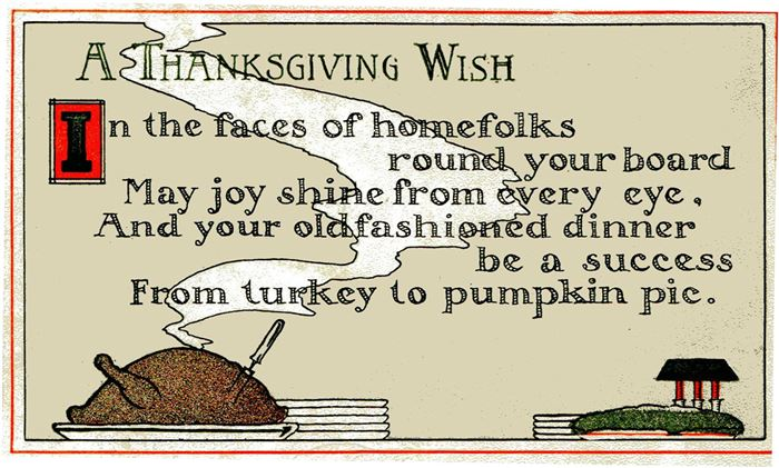 Funny Thanksgiving Poems And Sayings