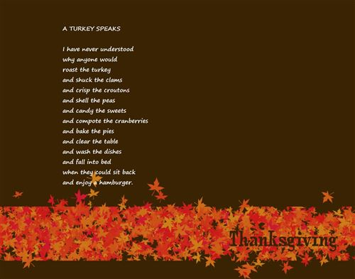 Ideal Short Thanksgiving Poems For Kids