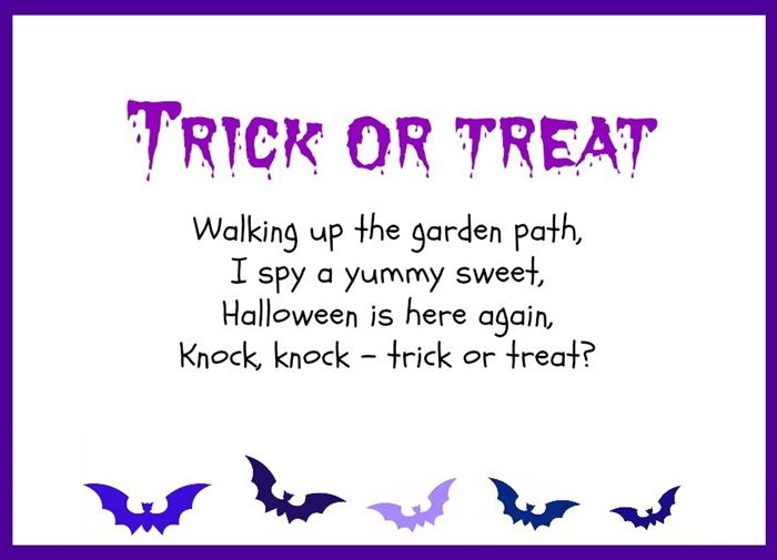 Short Halloween Poems For Kids