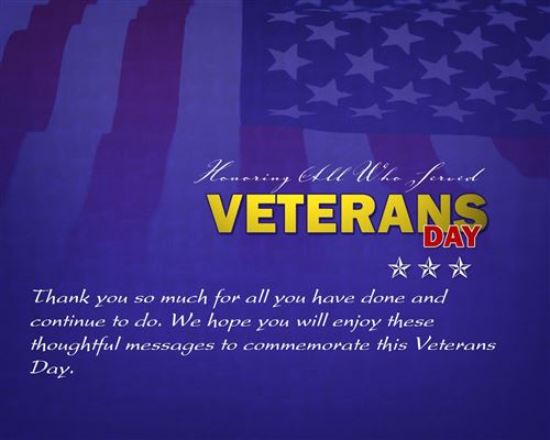 Top Veterans Day Message To Employees