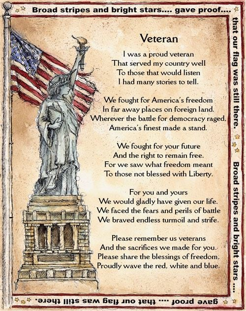 Top Veterans Day Poems For Young Children