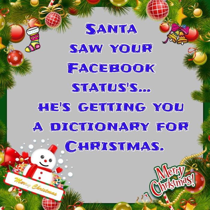 Best Funny Christmas Quotes For Facebook Status