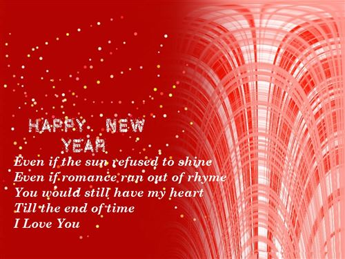 Cute Happy New Year Poems For Boyfriends