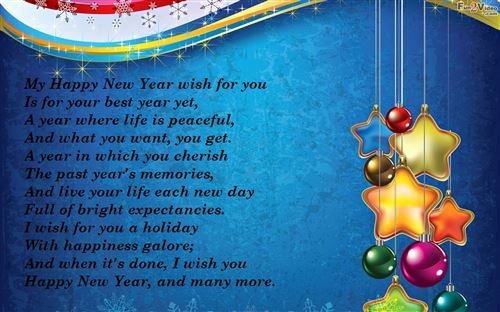Romantic Happy New Year Poems For Boyfriends