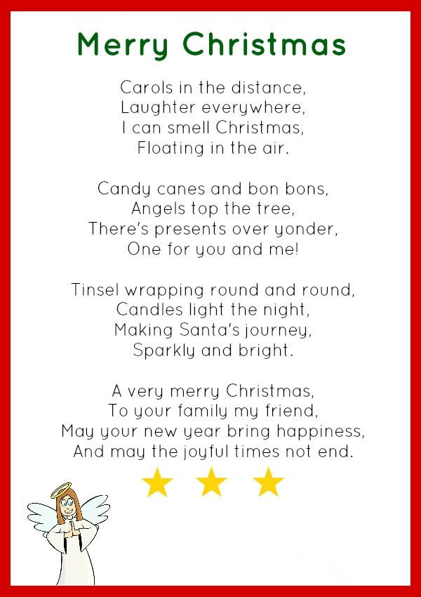 Best Short Christmas Poems For Toddlers