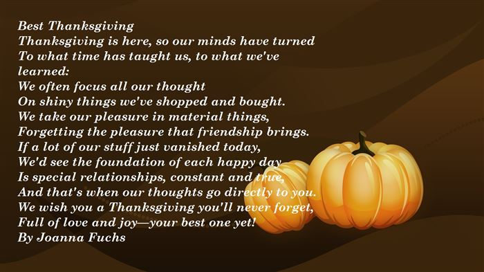 Famous Short Thanksgiving Poems About Family And Friends