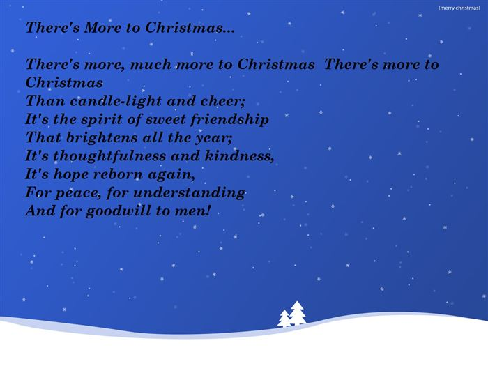 Free Christmas Poems For Kids To Parents