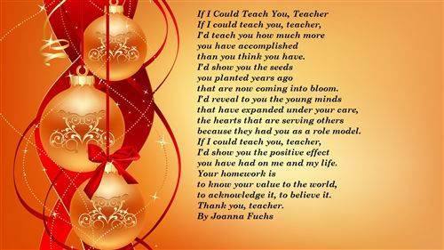 Free Happy New Year Poems For Teachers