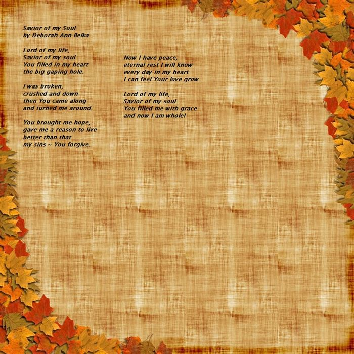 Free Short Christian Thanksgiving Poems