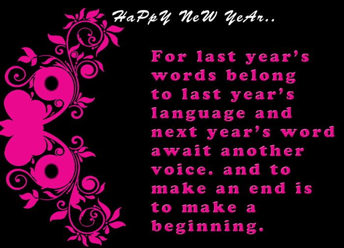 Beautiful Happy New Year Greeting Card Quotes