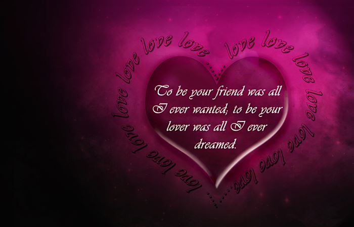 Lovely Happy Valentine's Day Greeting Card Quotes