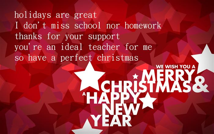 Unique Merry Christmas And Happy New Year Wishes For Teachers