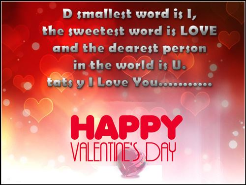Cute Happy Valentine's Day Wishes Sms