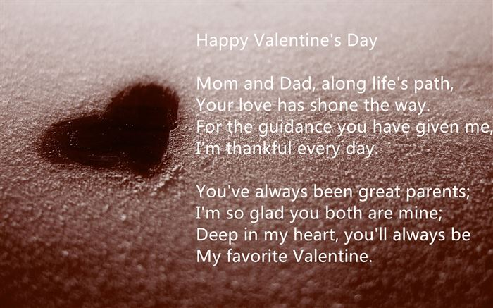 Meaningful Happy Valentine's Day Poems For Parents