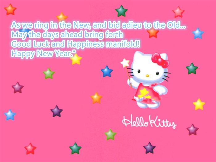 Free Happy New Year Hello Kitty Messages