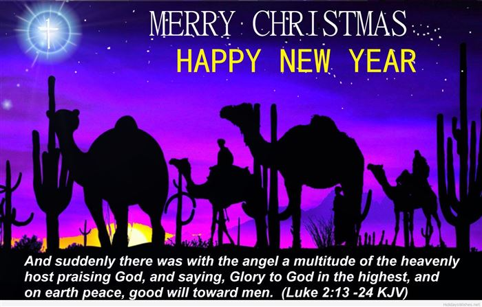 Beautiful Merry Christmas And Happy New Year Wishes Quotes