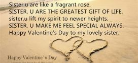 Meaningful Happy Valentine's Day Wishes For Sister