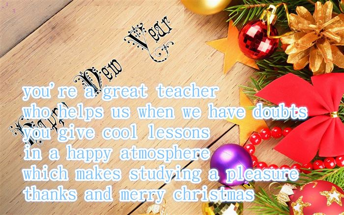 Beautiful Merry Christmas And Happy New Year Messages For Teachers