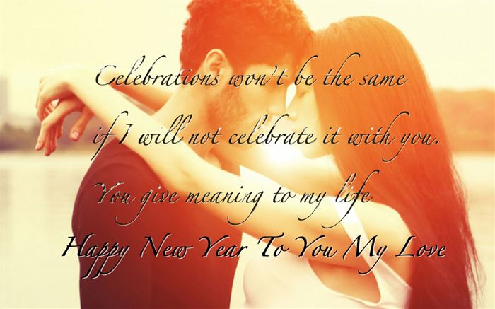 Romantic Happy New Year Greetings Message For Boyfriends