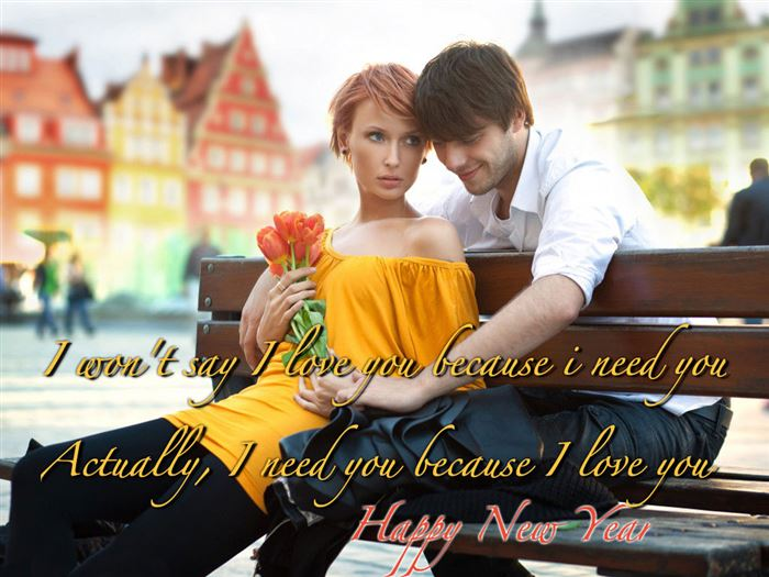 Lovely Happy New Year Greetings Message For Boyfriends