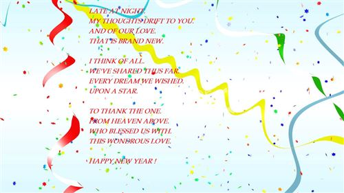 Short Meaning Happy New Year Poem For Husbands