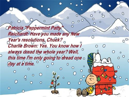 Meaning Happy New Year Charlie Brown Quotes