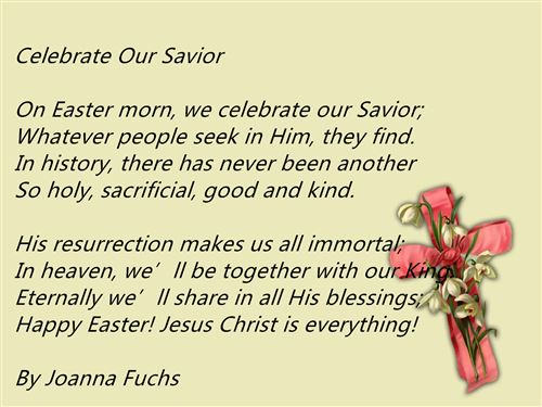 Free Christian Happy Easter Poems And Readings