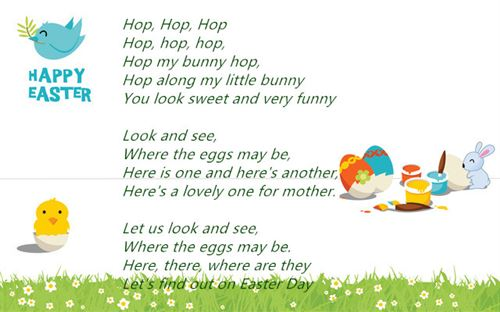 Famous Happy Easter Poems For Preschoolers