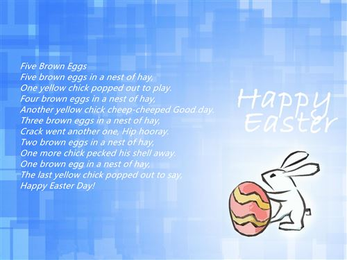 Meaningful Happy Easter Poems For Preschoolers