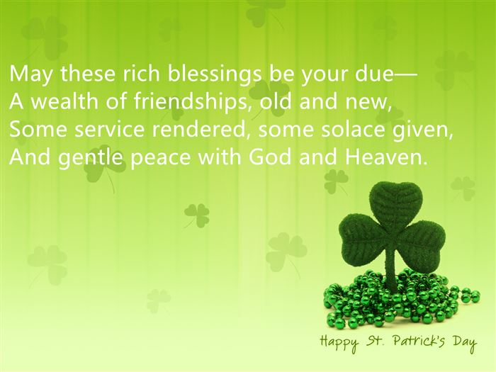Short Free St. Patrick's Day Quotes Poems For Kids