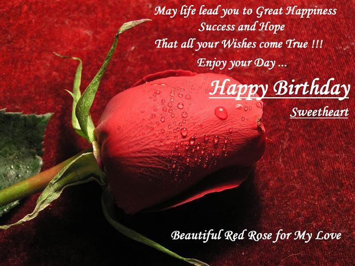 Romantic Happy Birthday Wishes SMS For Lover