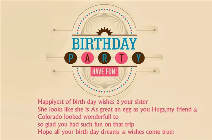 Best Happy Birthday Wishes Messages For Sister
