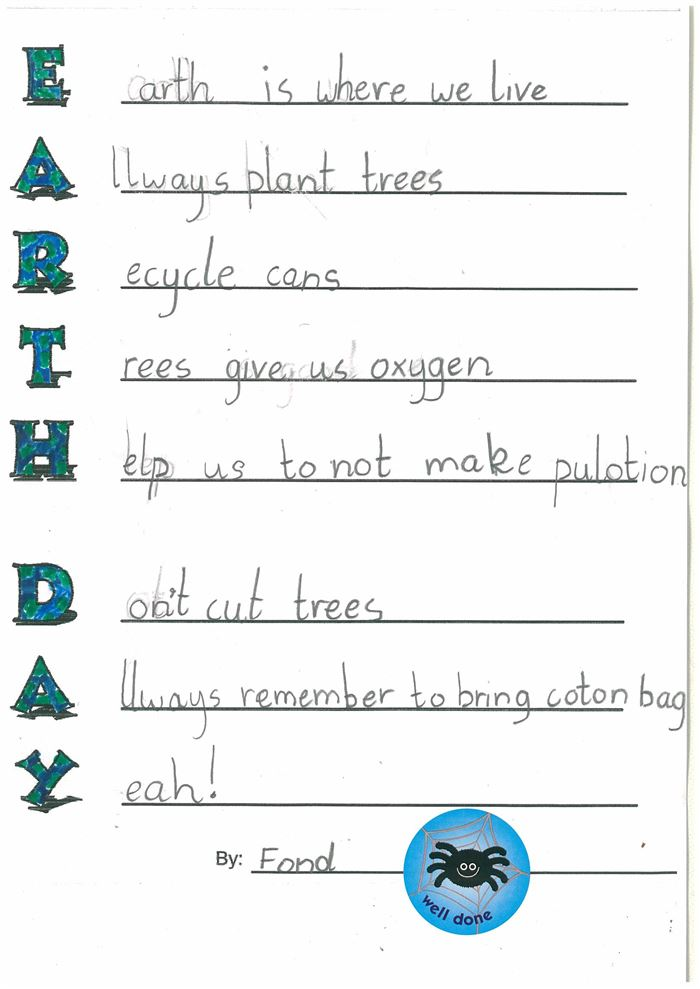 Unique Happy Earth Day Acrostic Poem Examples