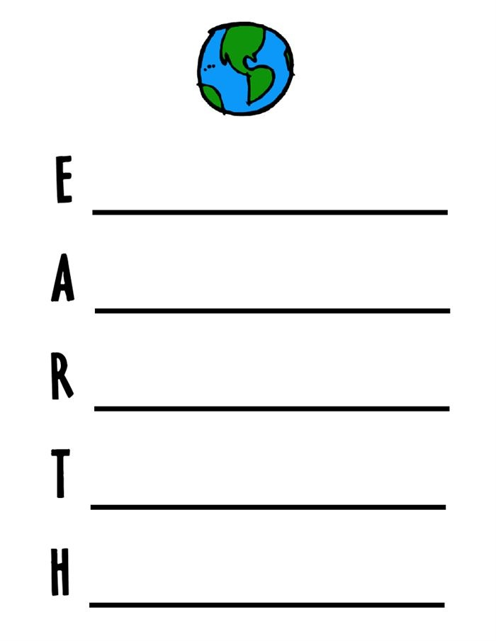 Best Happy Earth Day Acrostic Poem Template