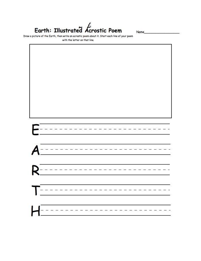 Unique Happy Earth Day Acrostic Poem Template