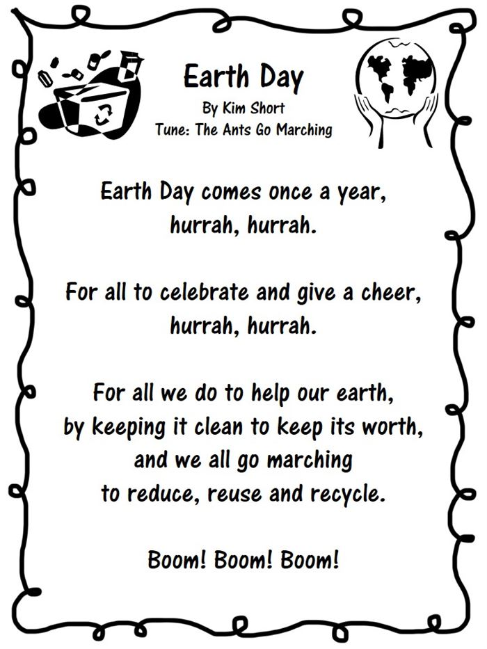 Best Happy Earth Day Poems For Kindergarten